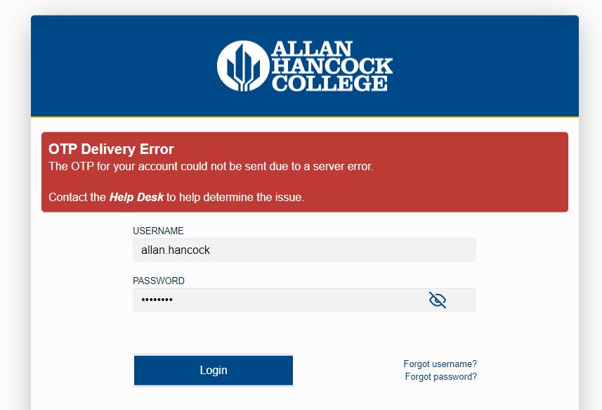 no reset email error